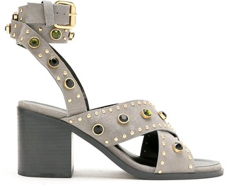 Eva Stud And Gemstone Embellishments Sandals