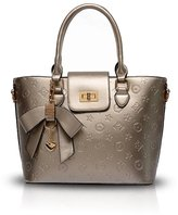 Nicole&Doris New Women/Ladies Shoulder Bag Handbag Tote Patent PU Leather Embossed High-quality