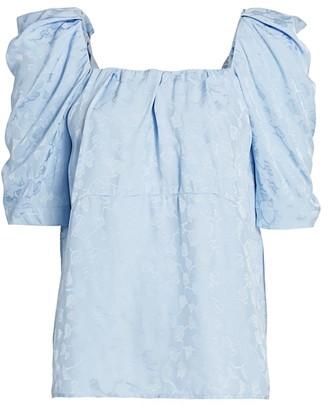 Rachel Comey Capa Puff-Shoulder Top