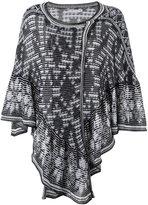 Cecilia Prado knit poncho - women - Cotton/Acrylic - One Size