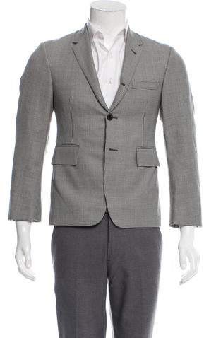 Thom Browne Houndstooth Wool Blazer