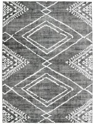 Union Rustic Valarie Southwestern Flatweave Gray Area Rug Rug Size: Rectangle 4' x 6'