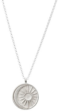 Dogeared Sun & Moon Medallion Necklace in Sterling Silver, 20