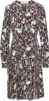 Valentino Embellished Chiffon-paneled Printed Silk Crepe De Chine Dress