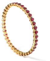 Amrita Singh Maharaja 18K Yellow Gold, Ruby & Diamond Marjan Bangle Bracelet