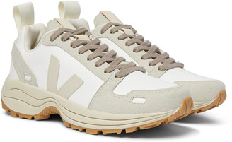 Rick Owens + Veja Venturi Vegan Suede-Trimmed Faux Leather Sneakers