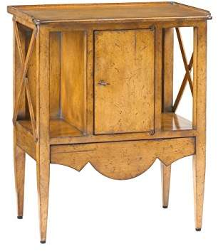 French Heritage Storage Accent Table