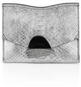Proenza Schouler Small Curl Metallic Leather Clutch