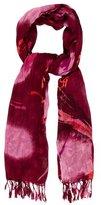 Rachel Zoe Fringe-Trimmed Printed Scarf