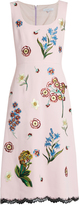 Andrew Gn Floral-appliqué sleeveless crepe dress
