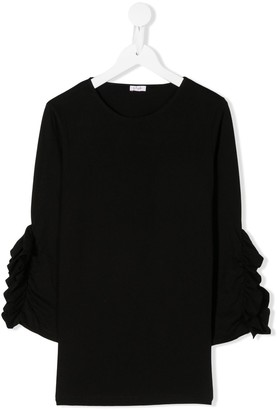 Il Gufo TEEN gathered sleeves T-shirt