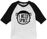 Urban Smalls White & Black 'I Need Space' Raglan Tee - Toddler & Boys