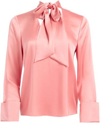 Alice + Olivia Rosina Tie Neck Blouse