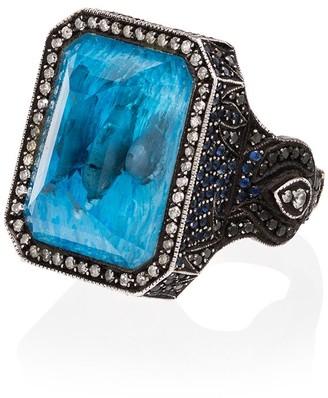 Sevan Biçakci 24kt Gold Diamond Dolphin Ring
