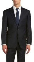 Nicole Miller Classic Fit Wool Suit With Flat Front Pant.