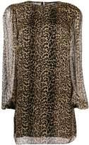 Saint Laurent leopard print shift dress