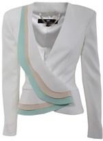 Elisabetta Franchi Women's White Polyamide Jacket.
