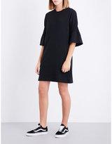Izzue Flared-cuff cotton-blend dress