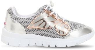 Sophia Webster Chiara Leather & Mesh Slip-on Sneakers