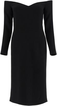 L'Autre Chose Off-Shoulder Knee-Length Dress