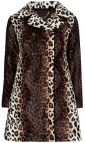 Touffe De Poils Leopard print coat