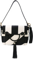 Borbonese monochrome shoulder bag - women - Cotton/Leather/Xenopeltis Unicolor (Sunbeam Snake) - One Size