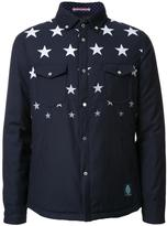 GUILD PRIME star print shirt jacket - men - Polyester/Rayon - 1