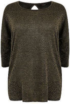 Yours Clothing YoursClothing Plus Size Womens Ladies Jumper Cardigan Top Scoop Back Tall Black