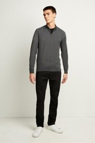 French Connection Stretch Cotton Half-Zip Jumper