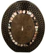 R & Y Augousti R&Y Augousti Bronze & Shagreen Bud Vase
