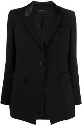 Emporio Armani Single-Breasted Tailored Blazer