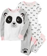 Carter's Baby Girl Panda Tees & Pants Pajama Set