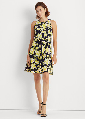 Ralph Lauren Floral Georgette Shift Dress