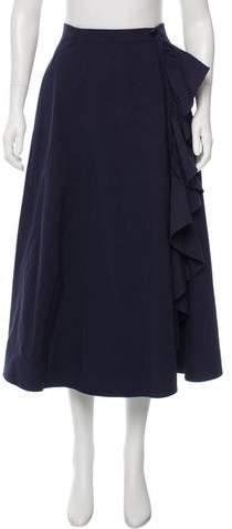 Tome Ruffled Midi Skirt w/ Tags