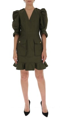 Alexander McQueen Balloon Sleeve Mini Dress
