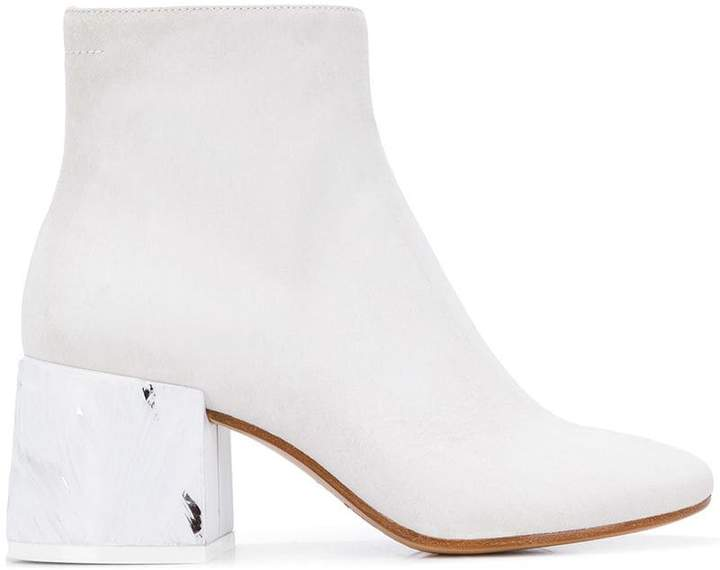 MM6 MAISON MARGIELA contrasting heel boots