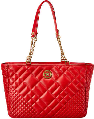 Versace Icon Quilted Leather Tote