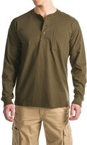 Smith's Workwear Cotton Henley Shirt - Long Sleeve (For Men)