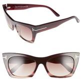 Tom Ford Women's Kasia 55Mm Cat Eye Sunglasses - Matte Black