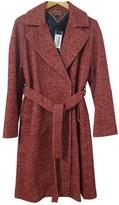 Tommy Hilfiger Burgundy Wool Coat for Women