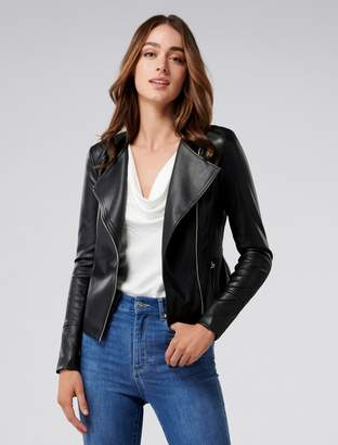 Ever New Nina Vegan Leather Collarless Biker Jacket