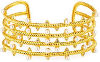 Freida Rothman Textured Pearly Wide Cuff