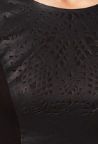 LOVE21 LOVE 21 Laser Cutout Faux Leather Dress