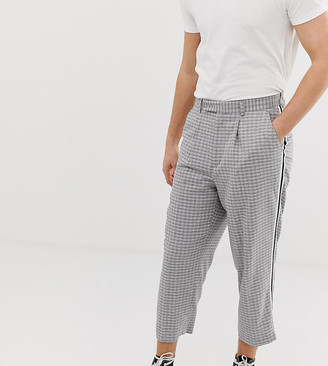 Noak wide fit tapered pants with pleats and side tape detail