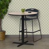 "BEIGE Hendrix Round Cafe Table Symple Stuff Top Finish: Beige, Size: 42"" H x 36"" W x 36"" D"