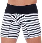 Unico Boxer Balance Long Leg Men's Underwear, Black & White (M)