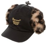 DSQUARED2 Boys' Fur-Trimmed Trapper Hat w/ Tags