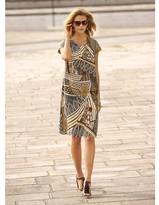 Anne Weyburn Ethnic Print Dress