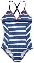 Splendid Girls' Chambray Stripe One Piece Swimsuit - Big Kid