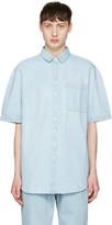 Sunnei Blue Denim Pocket Shirt